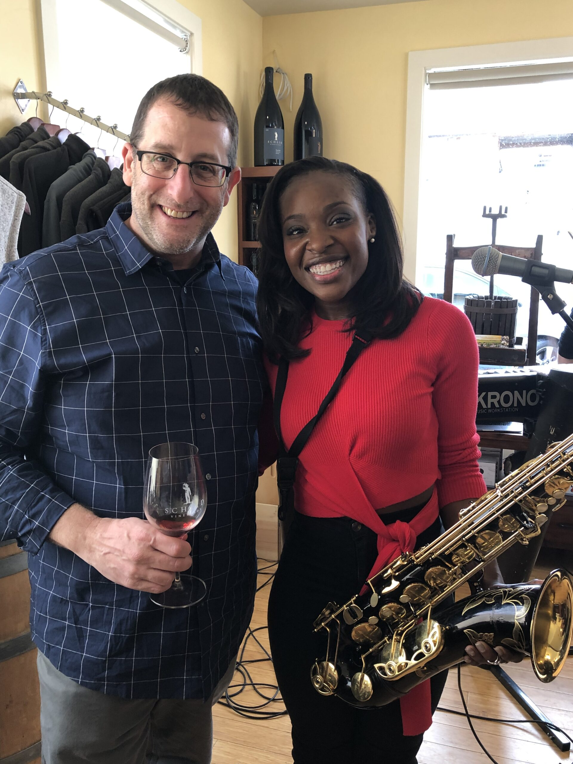 Jason Gorov & Jazmin Ghent at Jazz Weekender Schied Tasting Room