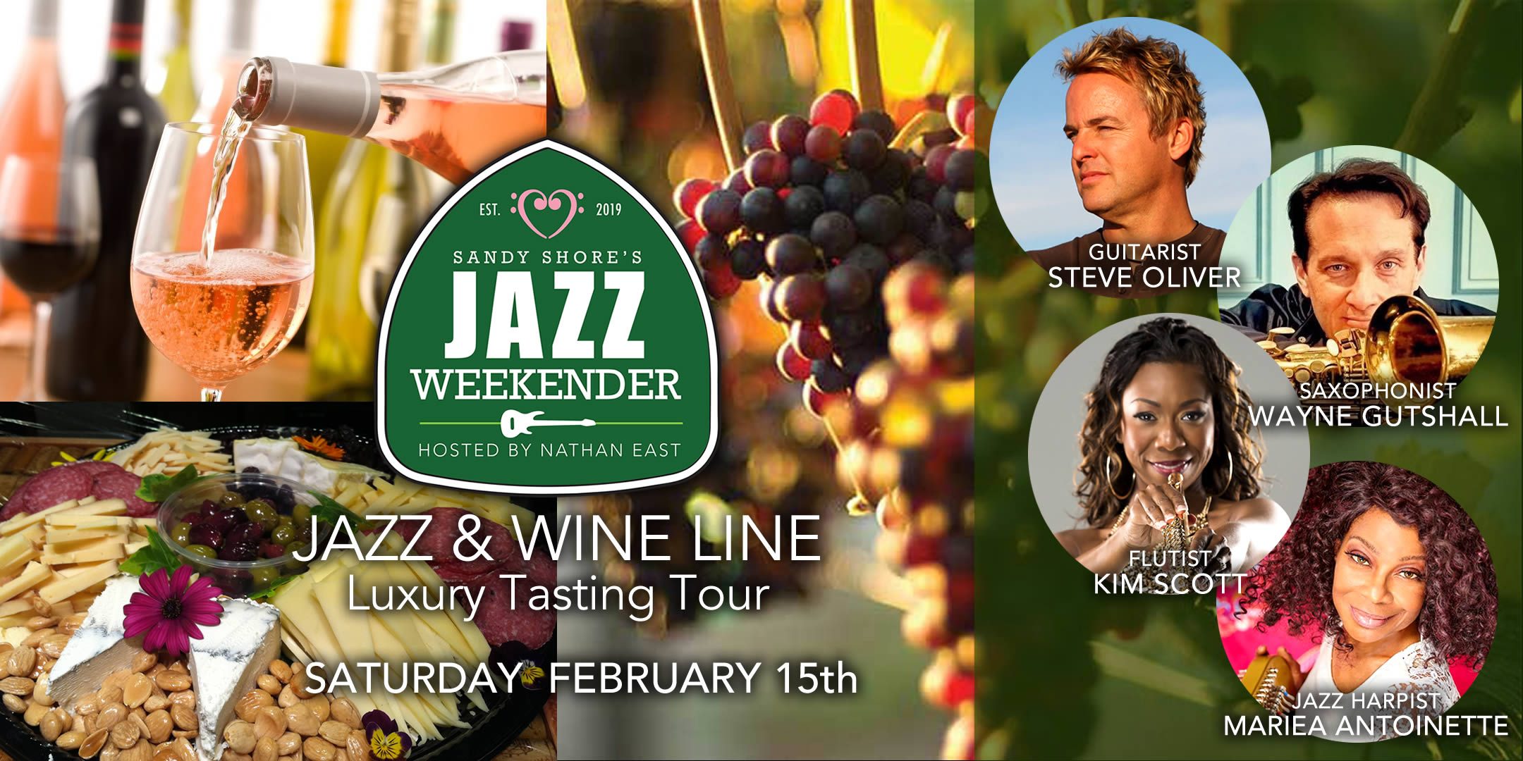 Jazz Weekender Jazz & Wine Line Luxury Tasting Trou